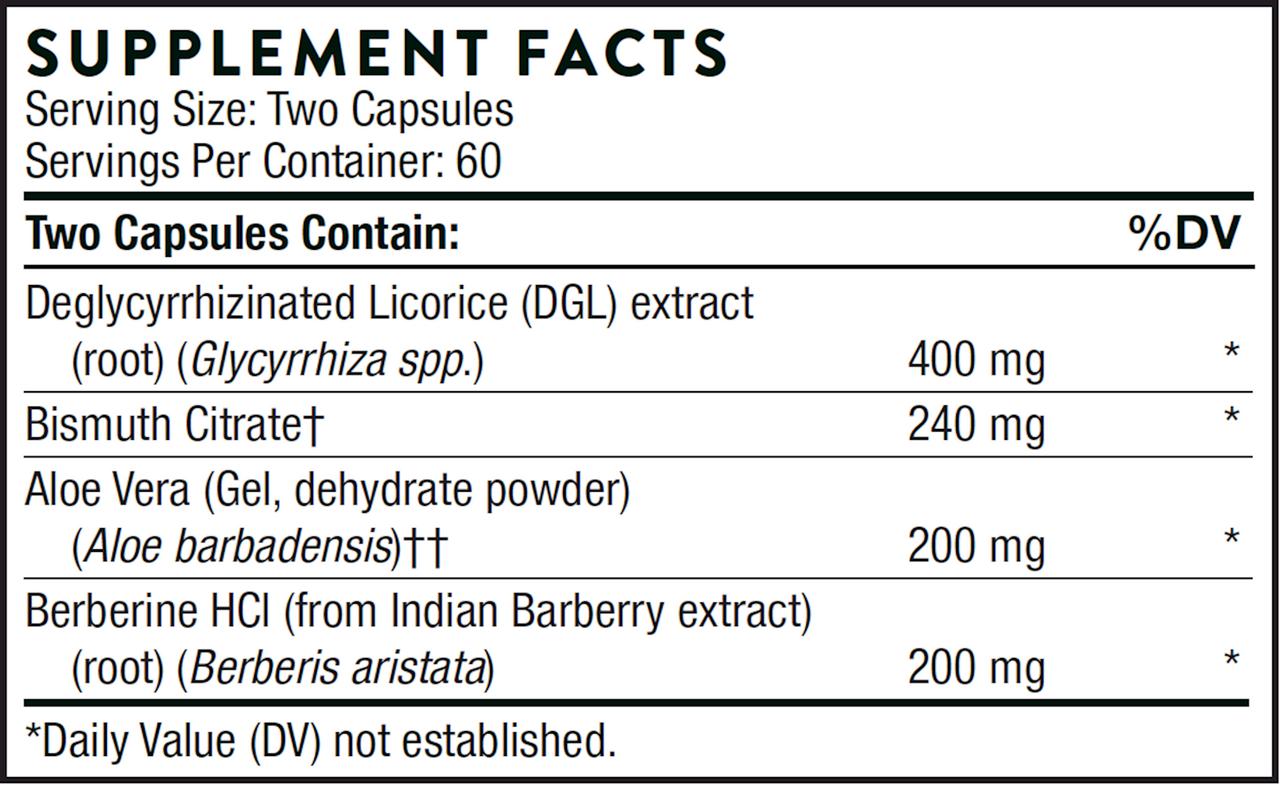 Thorne   Pepti-Guard 120 vegcaps ingredients