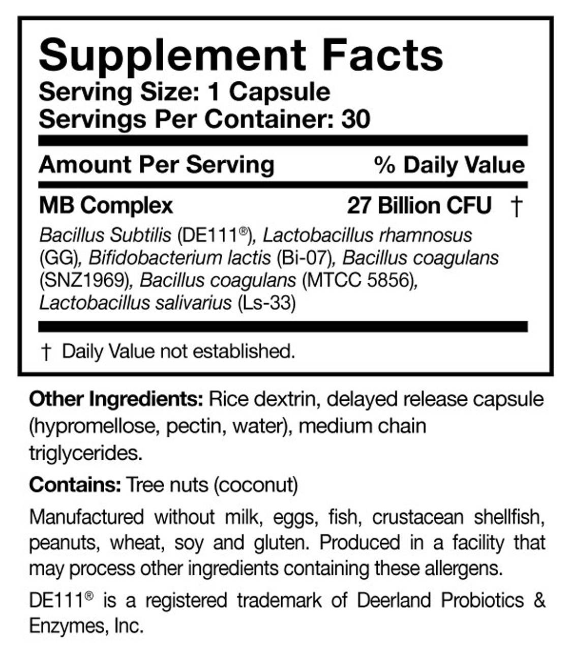 Researched Nutritionals Multi-Biome 30 caps ingredients