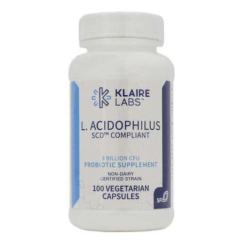 Klaire Labs L-Acidophilus SCD Compliant 100 vegcaps