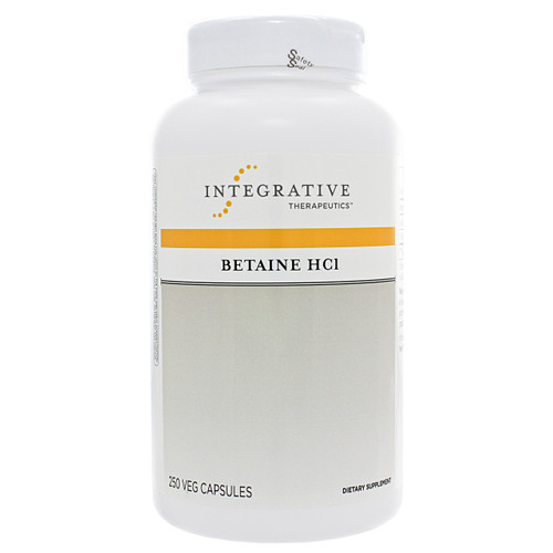 Integrative Therapeutics Betaine HCL w/ pepsin 250 caps