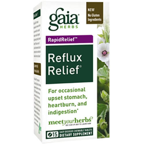 Gaia Herbs Reflux Relief 15 tabs