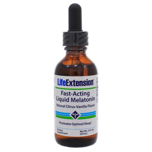 Life Extension Fast-Acting Liquid Melatonin Natural Citrus-Vanilla Flavor 3 mg 2 oz
