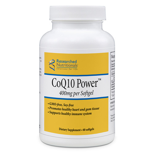 Researched Nutritionals CoQ10 Power 400 mg 60 softgels