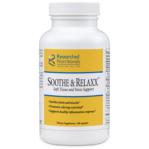 Researched Nutritionals Soothe & Relaxx Soft Tissue & Stress Support 180 caps