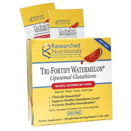 Researched Nutritionals   Tri-Fortify Watermelon 20 Pack Liposomal Glutathione