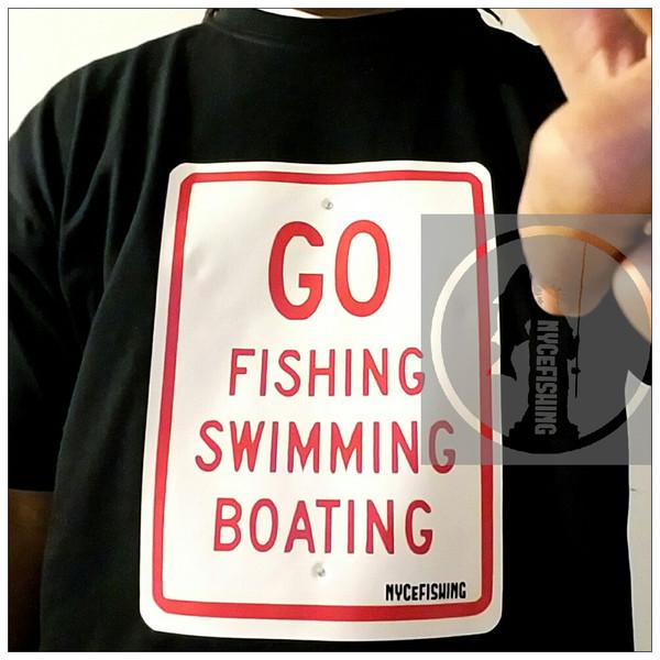 NYCeRULES - GO FISHING SWIMMING BOATING Tee (Black)