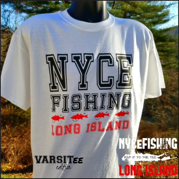 REP IT TO THE TEE VARSITY EDITION WHITE LONG ISLAND