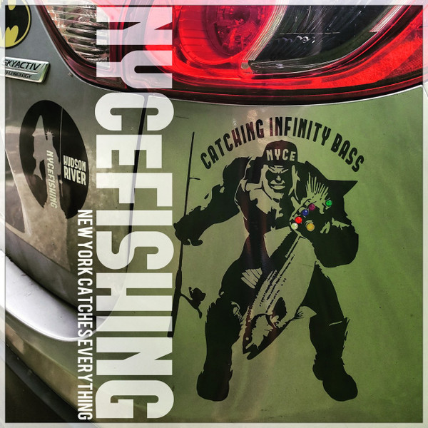 NYCeFISHING Catching Infinity Bass Decal W/ real Infinity Stones