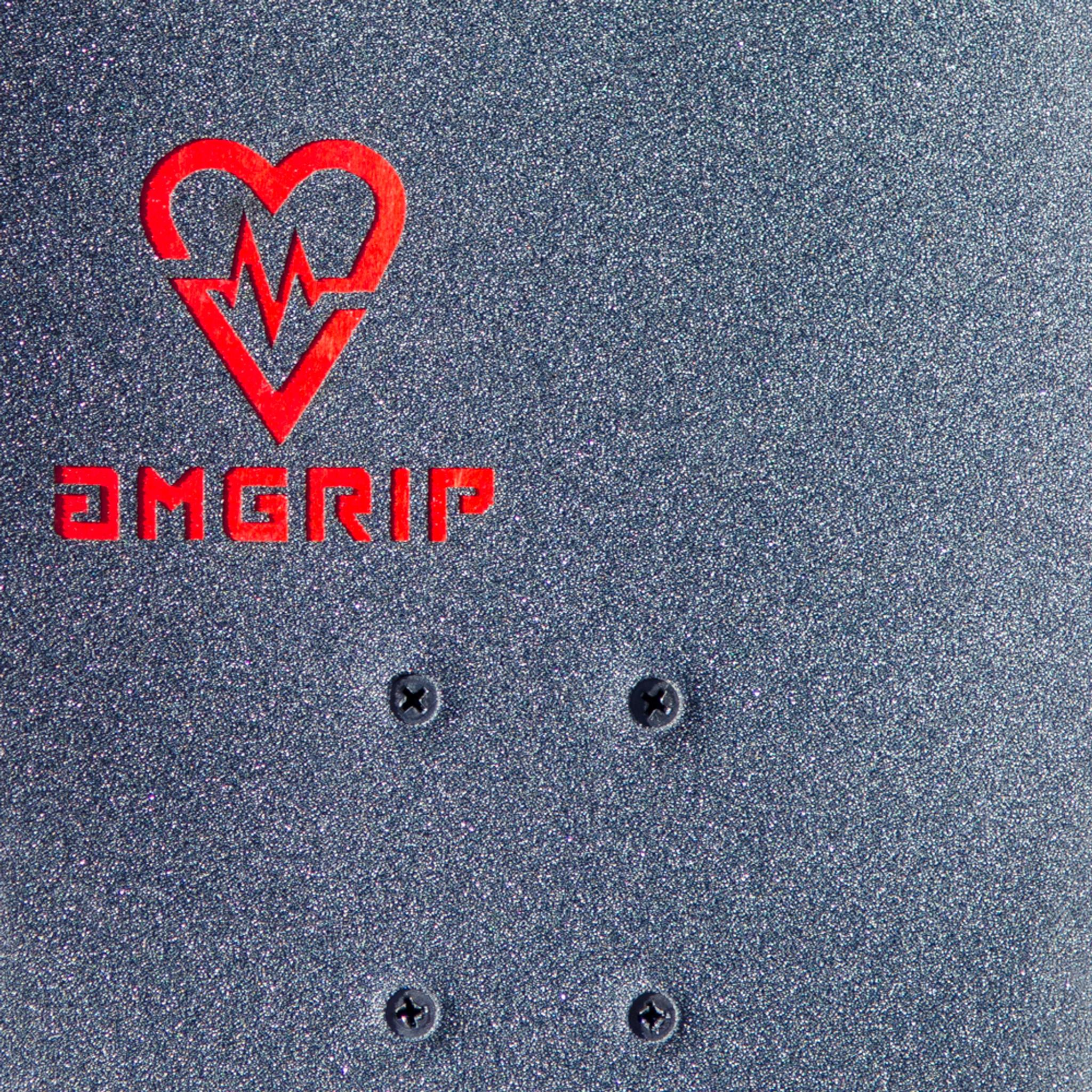 Black AmGrip X Force Collab Skateboard Grip Tape