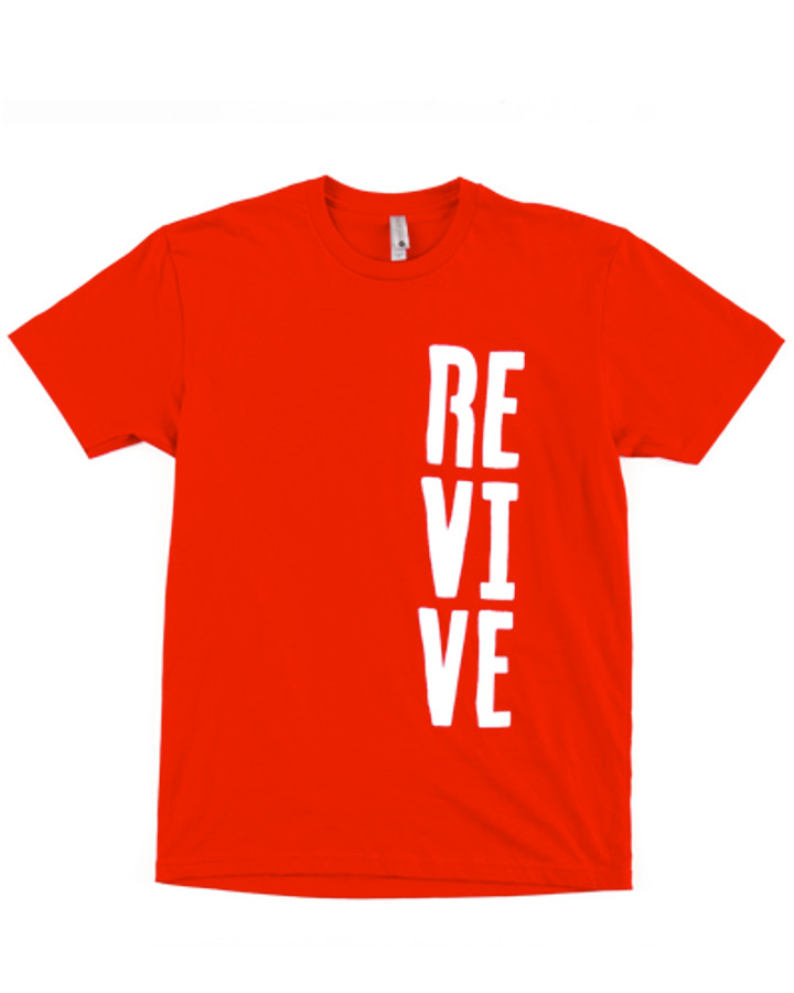 Stencil - Red Tee (medium, large, and XL left)