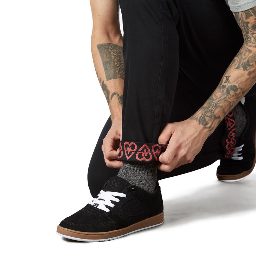 Revive Slim Fit Chino Pants - Black/Sketch Pattern