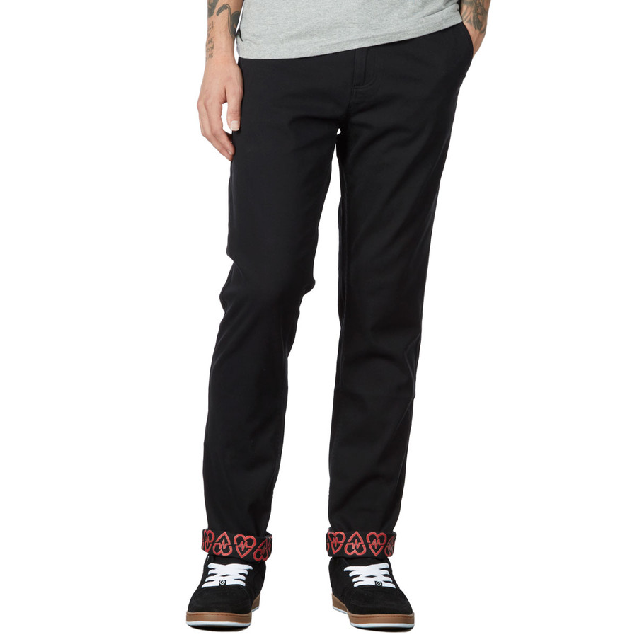 Revive Slim Fit Chino Pants - Black/Sketch Pattern