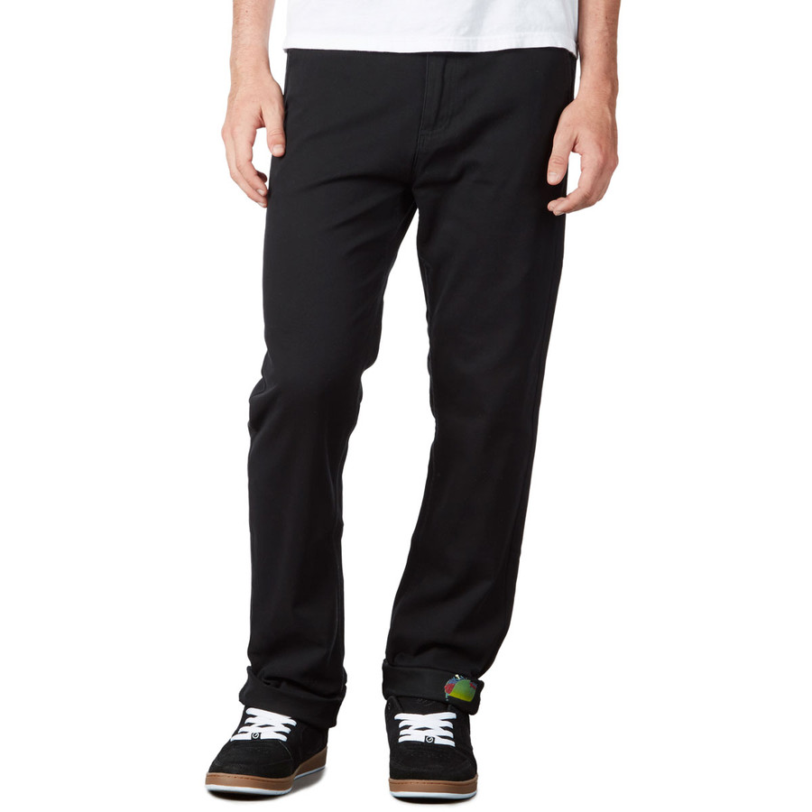 Revive Slim Fit Chino Pants - Black/Zombie Taco