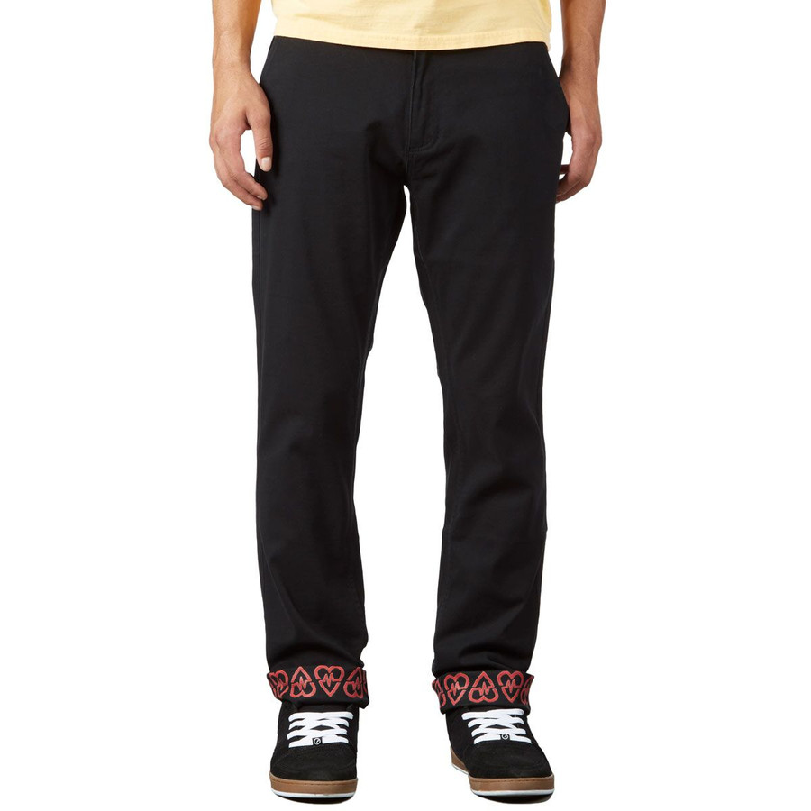Revive Straight Fit Chino Pants - Black/Sketch Pattern