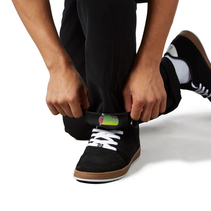 Revive Straight Fit Chino Pants - Black/Zombie Taco