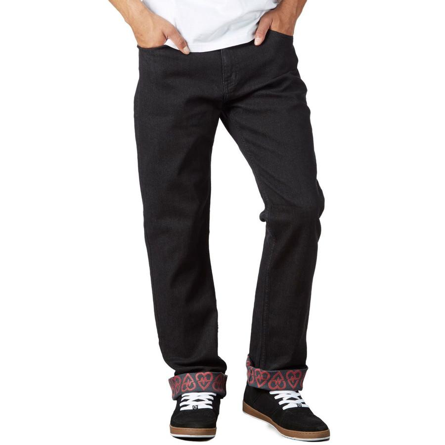 Revive Straight Fit Jeans - Black/Sketch Pattern