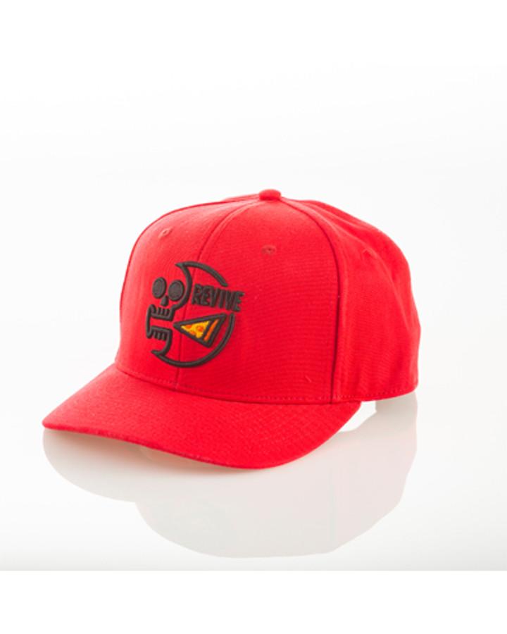 Pizza Skull Red- Snapback Hat