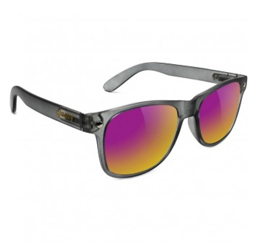 Leonard - Transparent Grey / Purple Mirror