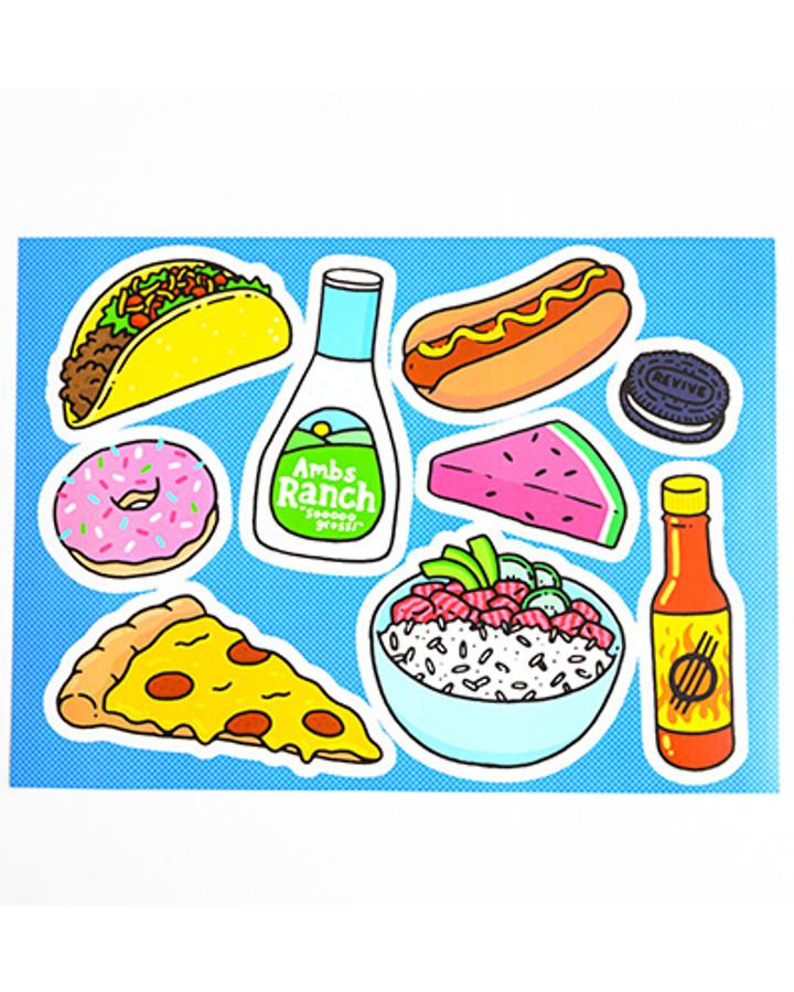 Dinnertime - Sticker Sheet
