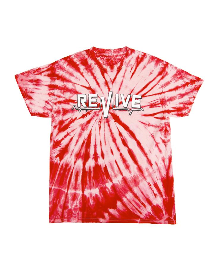 Red Tie Dye Lifeline - Tee