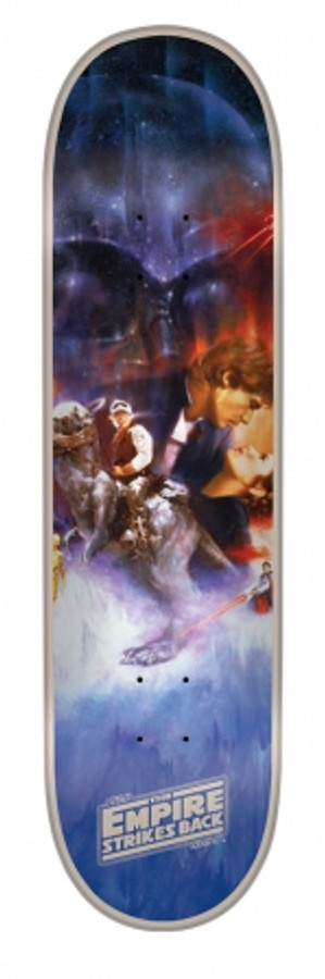8.25in x 32.04in Star Wars Empire Strikes Back Poster Team Deck