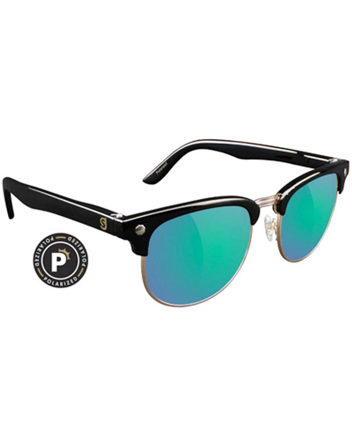 Morrison Polarized - Black/Green Mirror