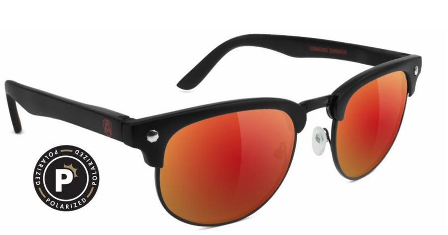 Morrison Attach Premium Polarized - Matte Black/Red Mirror