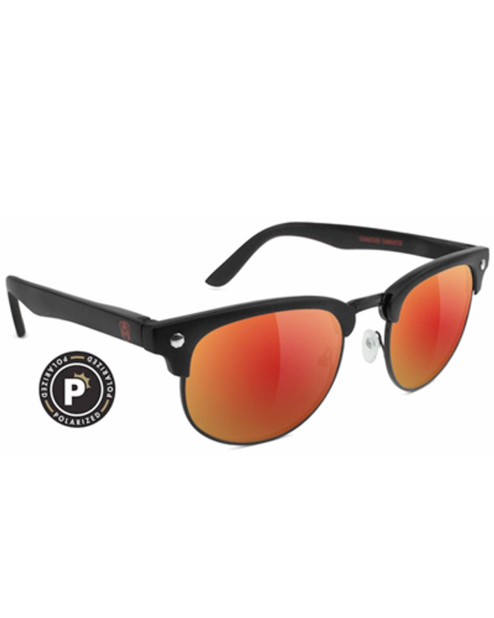 Morrison Attach Premium Polarized - Matte Black/Red Mirror