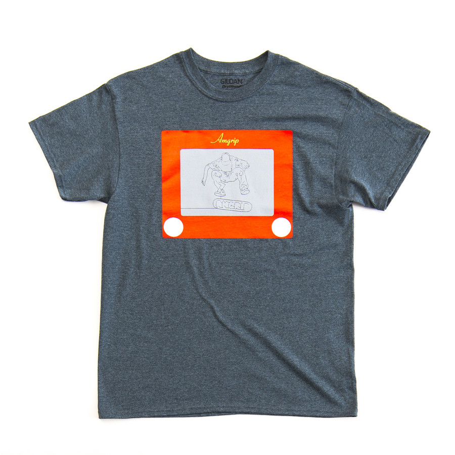 AmGrip -Etch A Sketch (FREE SHEET OF YOUR CHOICE OF AMGRIP- Small ande size only available) larg)