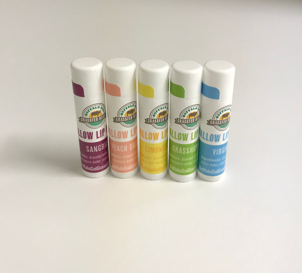 TALLOW LIP BALM .13 oz tube - 5 flavors  NEW!