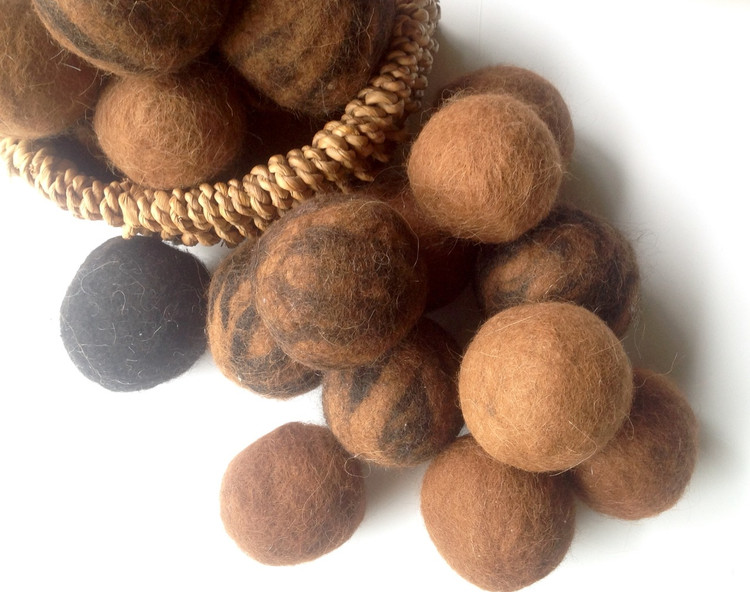 DRYER BALLS - Alpaca Felt - Set of 4