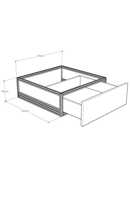 MAX series risers with drawer