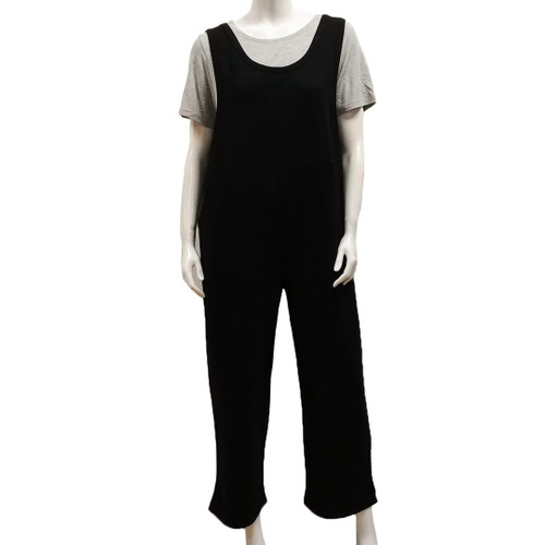 Bamboo French Terry Sleeveless Jumpsuit