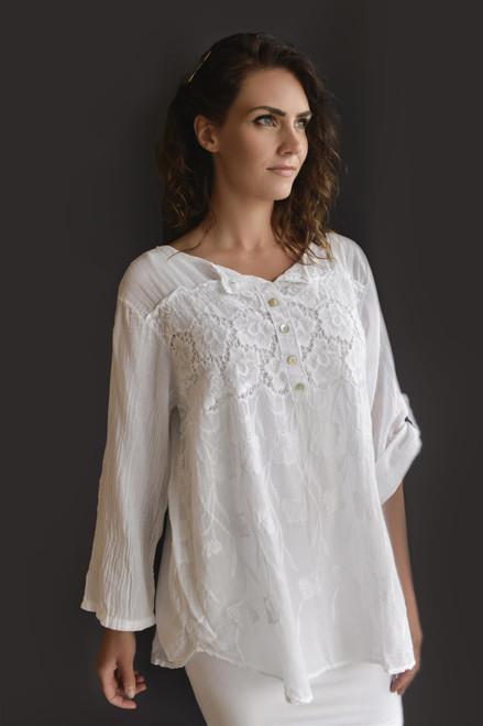 Cherishh White Cotton Top&Tank C2137