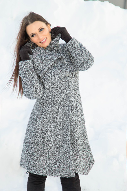 PURE 370-7753 Grey Mix Coat  (1008512)