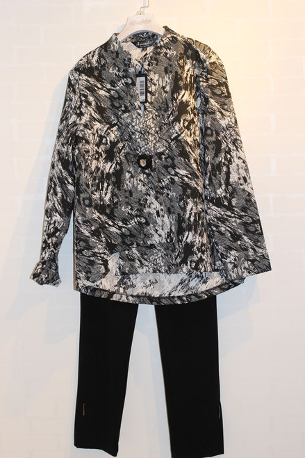 Amanda  Top/Jacket Nu look 60214 Black/grey