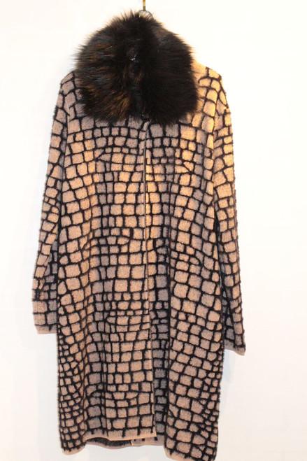 Cherishh  Jacket with fur Black/beige V9170