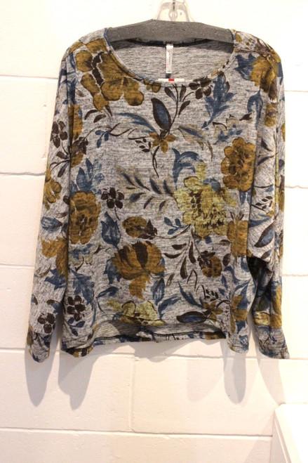 Gl PT-1007 Print Sweater Knit (Gold)