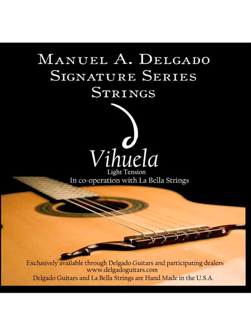 Delgado Vihuela Signature Strings Light Tension (Black)
