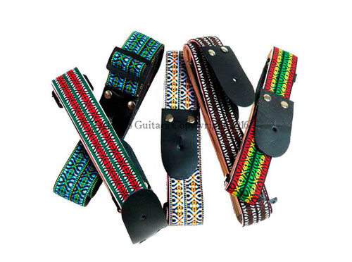 La Tradición Guitar & Guitarrón Straps With Traditional Mexican Designs