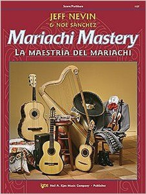 "12 classic mariachi songs are featured in this bilingual method, Mariachi Mastery, from the Neil A. Kjos Music Company. Each song is preceded by graduated exercises to help your students learn to play in the correct style - from Ranchera Valseada to Son Jalisciense. The CD that comes with each student book is ideal for home practice use. Frequent ""Mastering Mariachi"" lessons will give your students the edge they need to sound like professional mariachi musicians! Songs include: De Colores, La Bamba, La Llorona, Tristes Recuerdos, and El Caballito!  Mariachi Mastery is perfect for use by a traditional mariachi ensemble. The optional Viola (112VA), and Cello & Bass (112CO) books will make this an ideal supplement to your string orchestra curriculum - or add those instruments to make a ""symphonic"" mariachi! All studies and songs are playable by Violinists, Violists, and Trumpeters who have completed one year of study on their instrument. Guitarists and Harpists may begin their instrument with Mariachi Mastery!  Songs Included: De Colores La Valentina Las Golodrinas La Adelita Tristes Recuerdos La Raspa El Caballito La Bamba El Súchil La Llorona El Son de Mi Tierra María Chuchena"