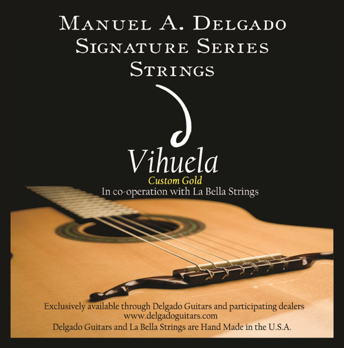 Delgado Vihuela Light Strings, Gold