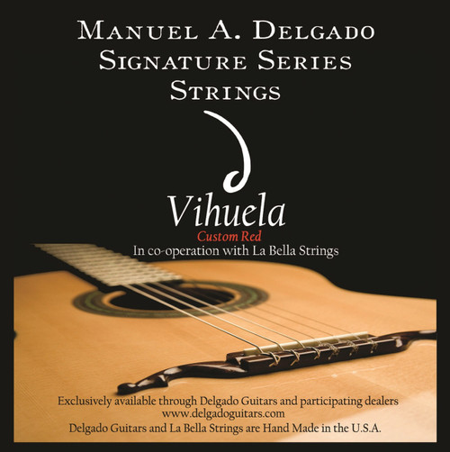 Delgado Vihuela Light Strings, Red