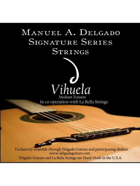 Delgado Vihuela Signature Strings Medium Tension (Clear)