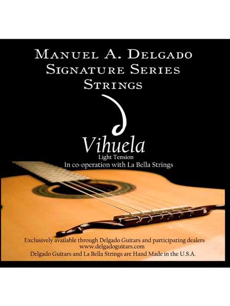 Delgado Vihuela Signature Strings Light Tension (Black)