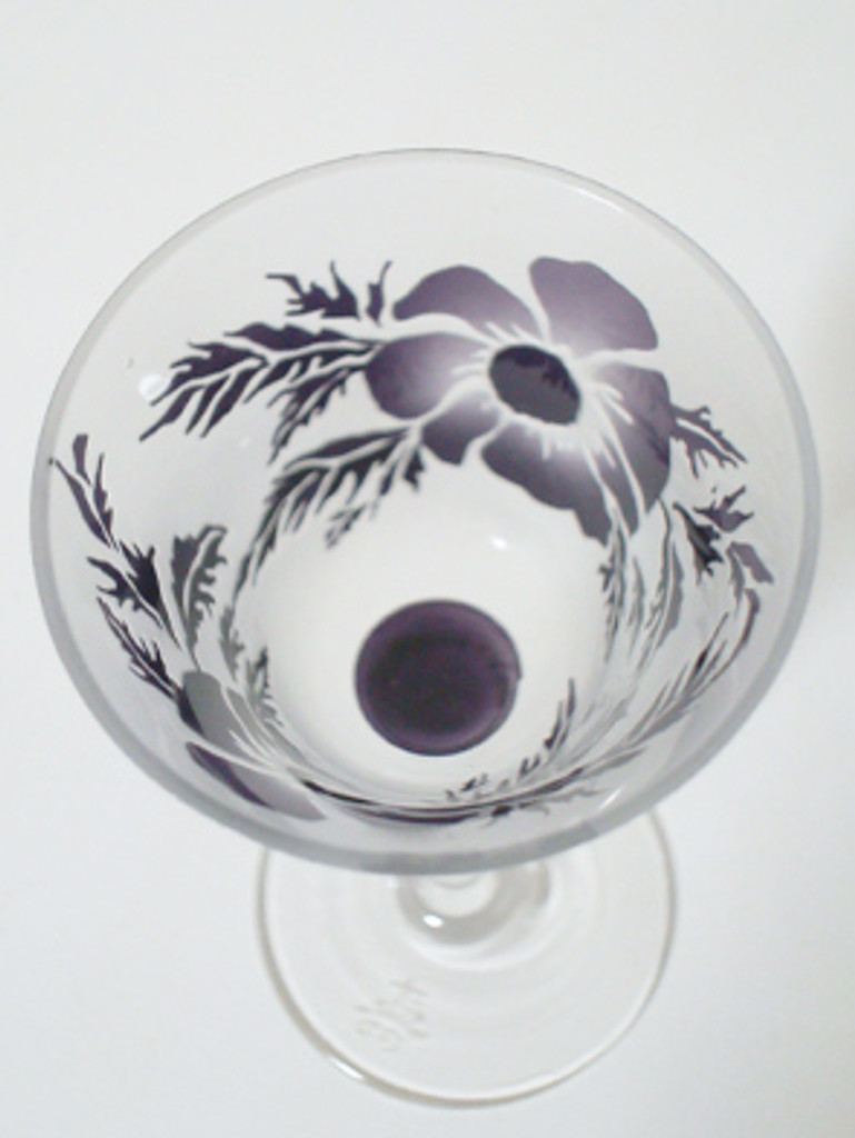 The color of this sake vessel is purple.  You might use this drinking cup for your special event.