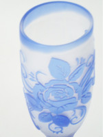 Blue Rose Sake Glass