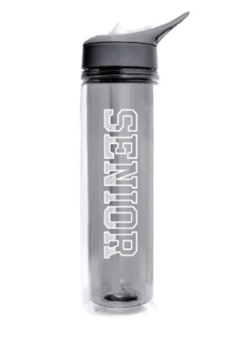"""Enjoy your water or soda on the road with this personalized """"GRAD LIFE"""" insulated water bottle.  Keep drinks cold for hours. Features a flip-straw."""