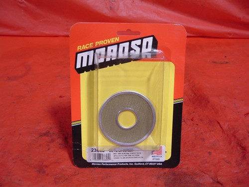 Moroso pre filter screen for spin on oil filters