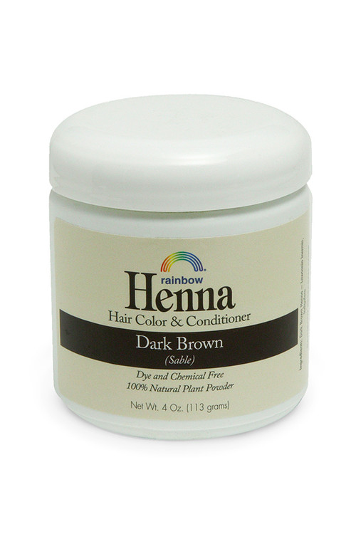 Henna Dark Brown 4oz,17oz,34oz.